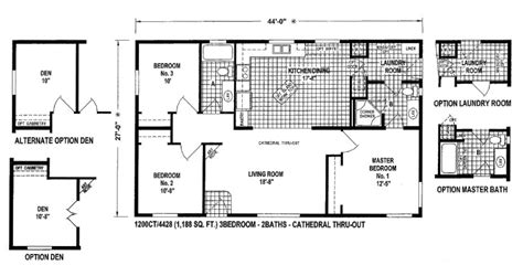 small wide mobile home floor plans small