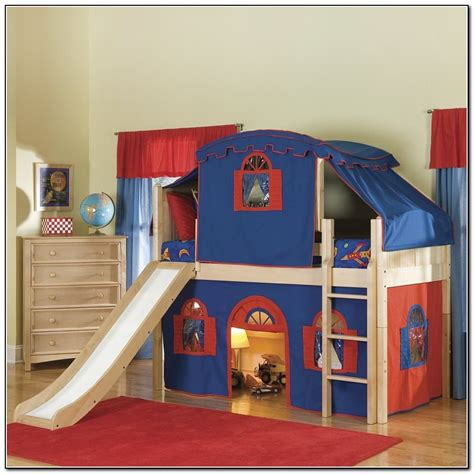 bunk beds with slide boys bunk beds with slide beds home design ideas