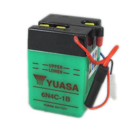 Motorrad Batterie 6v by Yuasa Motorcycle Battery 6n4c 1b 6v 4ah From County