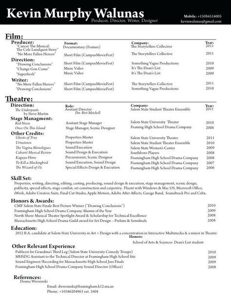 filmmaker resume template director resume best resume collection