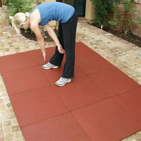 outdoor mats using rubber for patio flooring