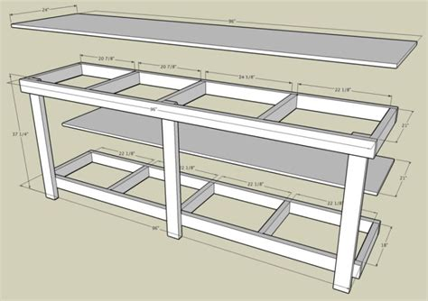 plans for a work bench pdf woodwork garage workbench plans download diy plans