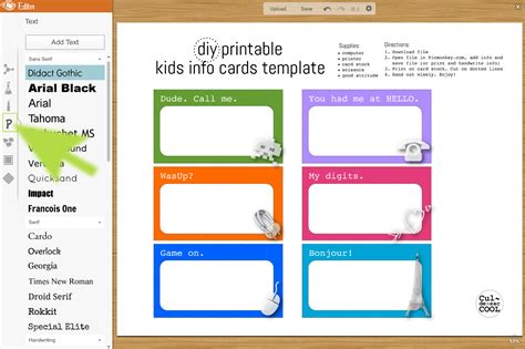 food allergy card template for children free printable day cards wallpaper