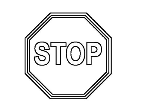 stop sign coloring page stop sign coloring book coloring pages
