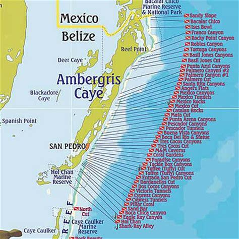 belize dive site maps & belize diving areas, maps & more