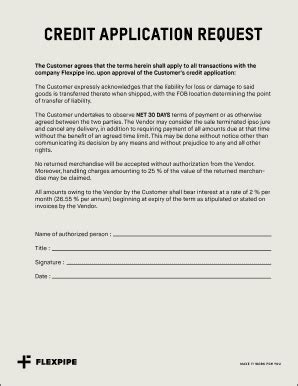 Sle Application Letter For Credit Facility credit facility request letter to supplier edit