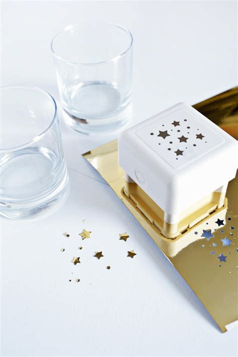 Make Your Own Paper Punch - make your own gold barware set a beautiful mess