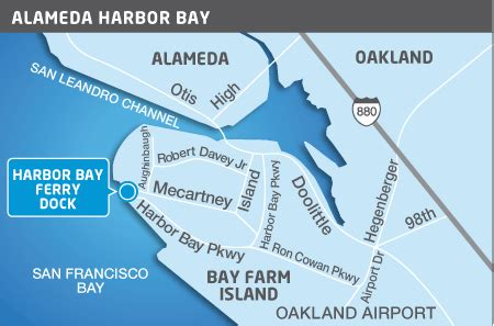 san francisco ferry map terminals san francisco bay ferry