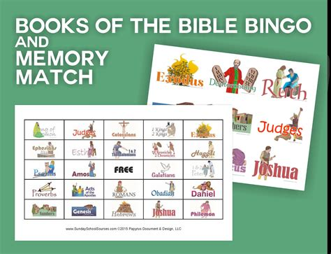 Scripture Memory Cards Template by Books Of The Bible Bingo 48 Printable Cards Memory Match