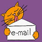 Cat licking email envelope gif