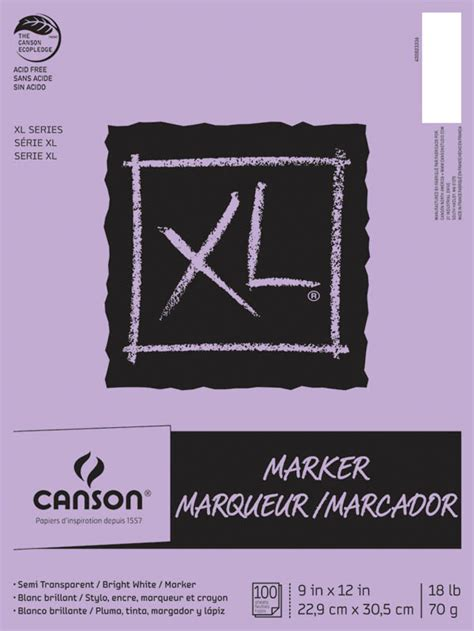 Canson Marker canson xl marker pad 9 quot x 12 quot 100 sheets 000834