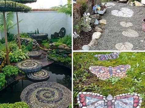 Diy Rock Garden Wonderful Diy Spiral Rock Mosaic Path