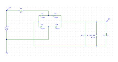 rectifier simulation problem in pspice 9 10 electrical engineering stack exchange