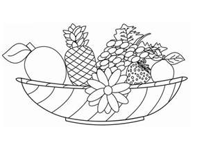 coloring pictures of fruit baskets free coloring pages