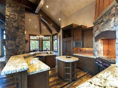 amazing kitchens design  rustic elements home design