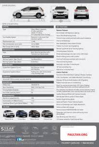 Peugeot Specifications Peugeot 2008 Specs And Pricing Revealed Rm120k Image 218108