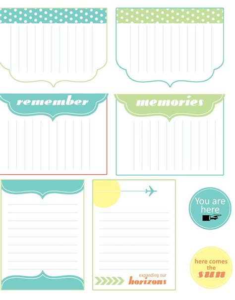 printable travel journal cards 5 best images of free journal printables free printable
