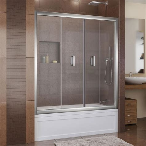 folding bathtub doors dreamline butterfly 57 1 2 to 59 in x 58 in framed bi
