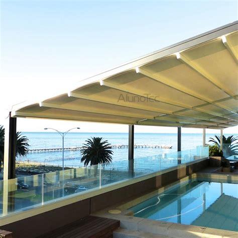 aluminum retractable awnings aluminum retractable pvc pergola fabric roof buy pergola