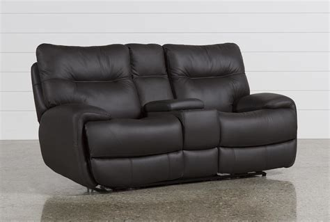 oliver graphite power reclining loveseat w console