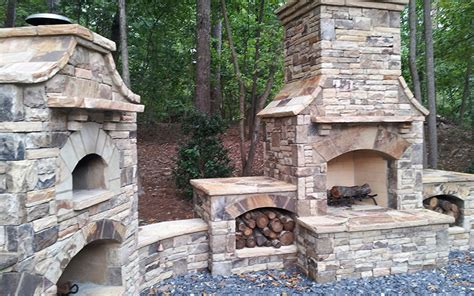 Kitchen Islands With Stove by Natural Stone Amp Outdoor Kitchens Stone Masonry Indoor