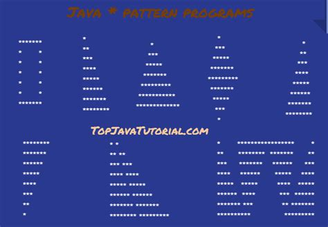 pattern java program 8 different star pattern programs in java top java