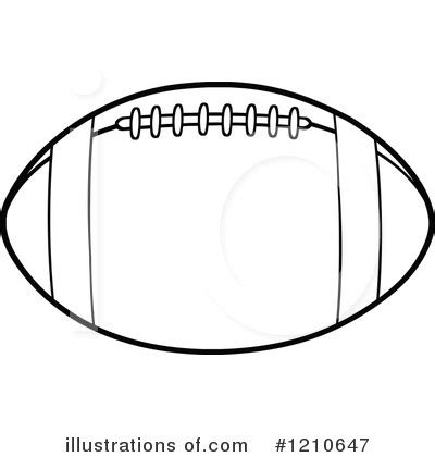 football outline template football clipart 1210647 illustration by hit