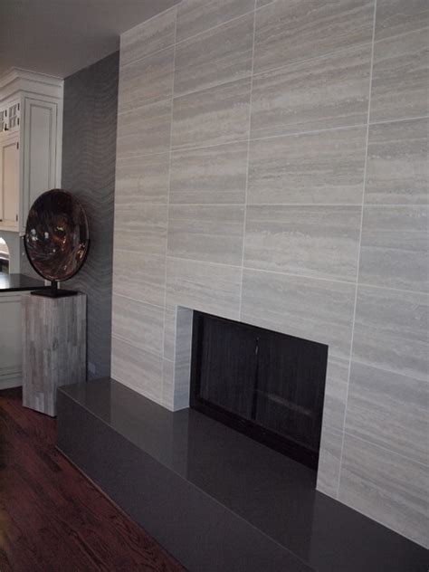 contemporary tile fireplace contemporary living room