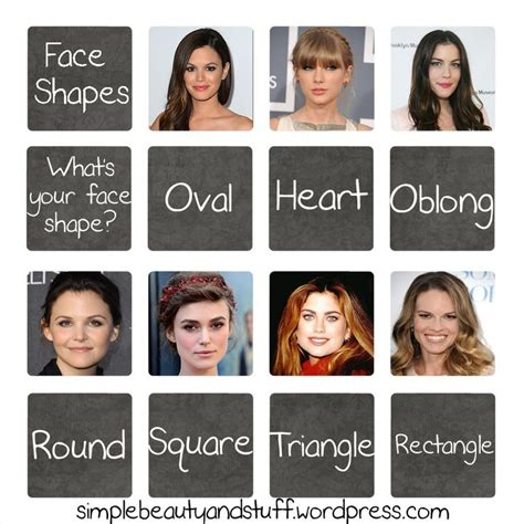 exles of face shapes practical exles of the different face shapes to