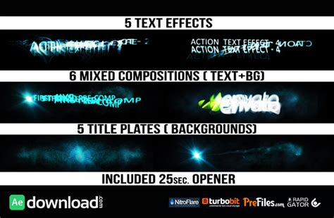title templates for after effects free action titles videohive template free download