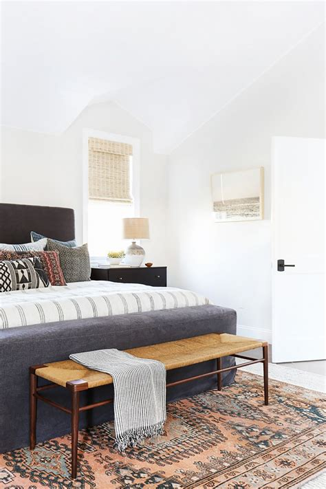 rug bedroom modern boho interiors colorful layered and modern spaces