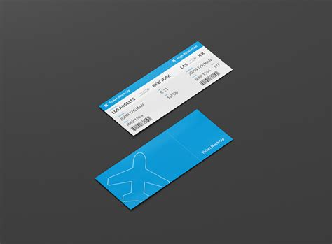 ticket mockup premium   mockups   awesome