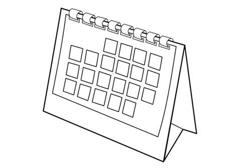 Calendario Para Colorear Dibujo Para Colorear Calendario Img 29533