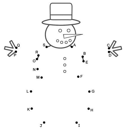 connect the dots christmas tree snowman connect the dots by capital letters