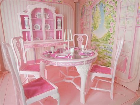 barbie dining room set barbie fashion dining room set 9478 1984 made in u s a dream furniture collection flickr