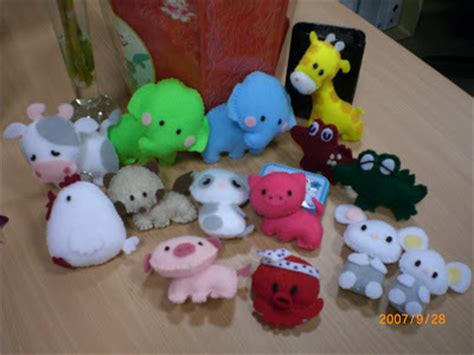 Handmade Felt Animals - handmade with felt animals collection