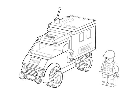 coloring pages police truck lego police car coloring page for kids printable free