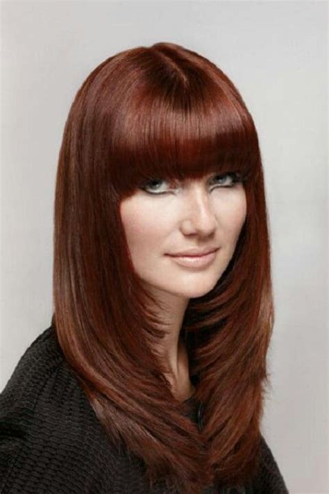 space framing layered hairstyles long face framing layers with bangs maybe with