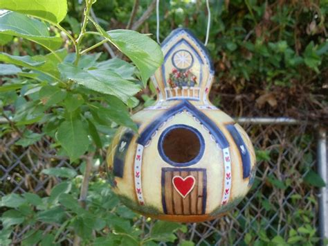 bird house gourds handpainted birdhouse gourd