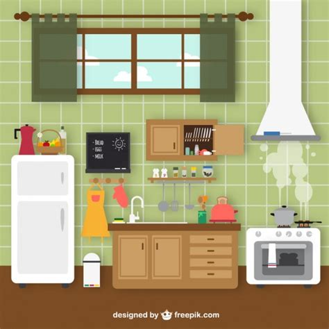 design a kitchen free retro kitchen vector free