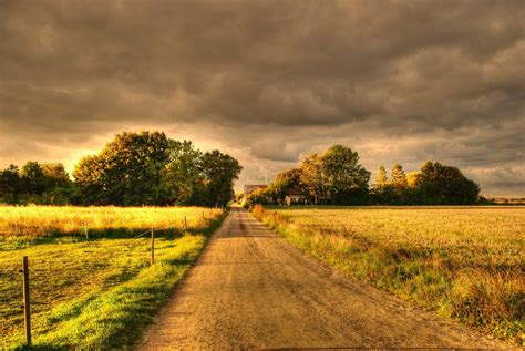 country road hdr by marieandersson on deviantart