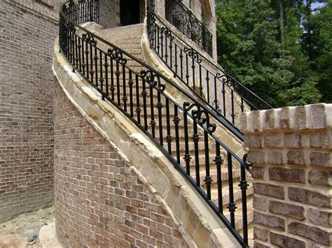 Exterior Banister by Outside Iron Rails For Stairs