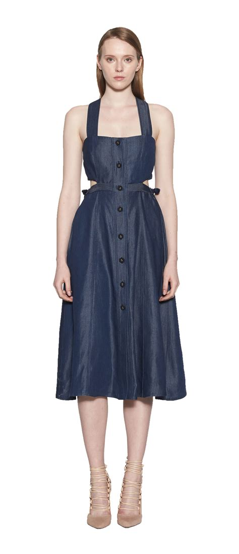 Dress Verona verona denim cutout dress