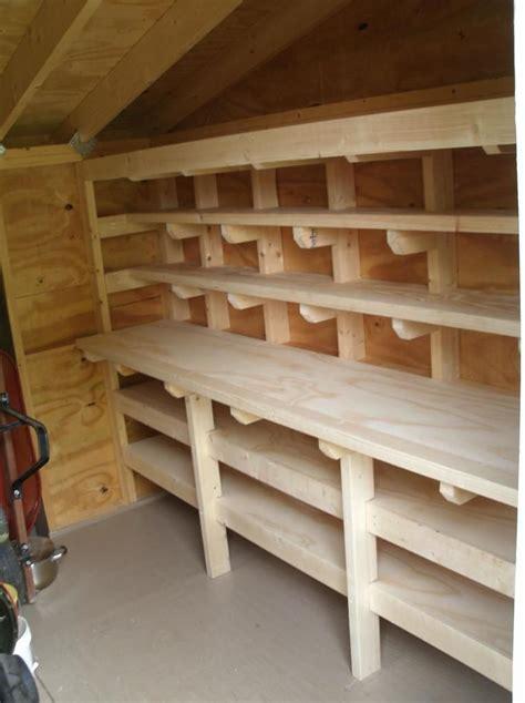 shed workbench  shelves  images storage shed