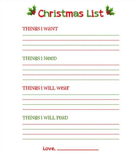 christmas wish list 2018 12 year old blank list free printable 24 wish list template to fill out by