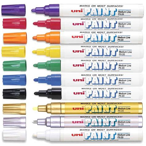 light grey fibralo paintmarker paints and marking pens 22136 light grey paint light grey uni paint marker px 20 medium