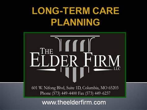 the process of long term care planning long term care planning authorstream