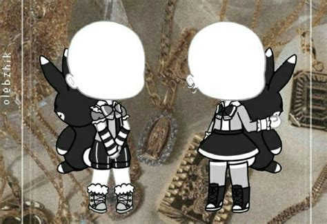 gacha life ropa negra