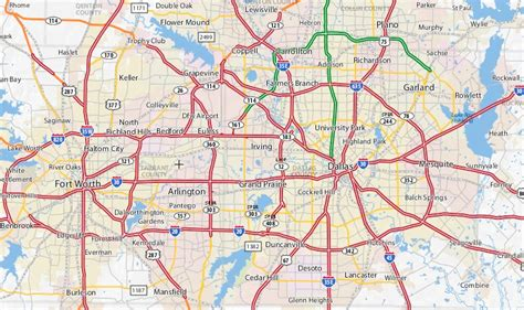 dfw texas map map of dallas fort worth area pictures to pin on pinsdaddy