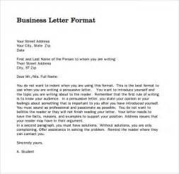 Business Letter Writing Format Sample Pdf Sample Professional Business Letter 6 Documents In Pdf
